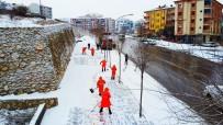 Malatya'da Karla Yoğun Mücadele