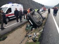 Otomobil Kaygan Yolda Takla Attı Açıklaması 1 Ölü, 3 Yaralı