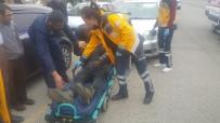 BİSİKLET - Otomobilin Çarptığı Bisiklet Sürücüsü Yaralandı