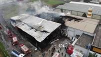 YANGINA MÜDAHALE - Samsun'daki Fabrika Yangını