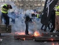 BIBER GAZı - Fransa'da sarı yeleklilerin gösterileri şiddete dönüştü