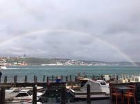 İstanbul Boğazında Muhteşem Gökkuşağı Görüntüsü