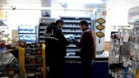 Markete Giren Hırsızlar Sadaka Kutusuna Kadar Çaldı