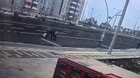 Karşıya Geçerken Aracın Altında Kalan Şahıs Ağır Yaralandı
