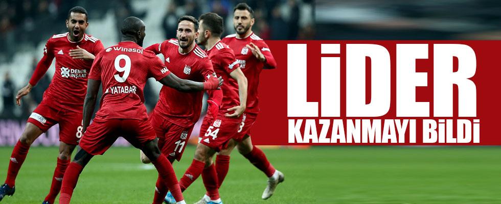 Lider Sivasspor Beşiktaş'ı mağlup etti