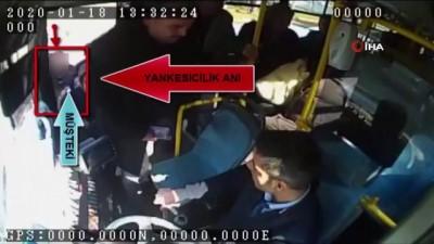 Otobüste yankesicilik böyle görüntülendi