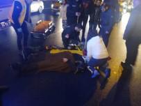 Otomobil Motosikletli Sürücüye Çarptı Açıklaması 1 Yaralı
