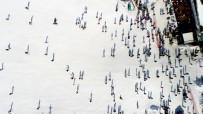Tatilciler Yarıyılda Uludağ'a Akın Etti