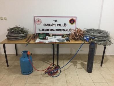 Osmaniye'de Kablo Hırsızları Suçüstü Yakalandı