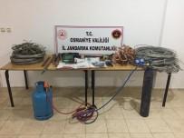 OKSİJEN TÜPÜ - Osmaniye'de Kablo Hırsızları Suçüstü Yakalandı
