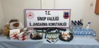 Sinop'ta Etil Alkol, Kaçak Tütün Ve Ruhsatsız Silahlar Ele Geçirildi