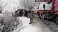 DOĞANTEPE - Karlı Yolda Faciadan Dönüldü Açıklaması 3 Yaralı