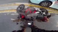(Özel) İstanbul'da Motosikletlilerin Ölümden Döndüğü Kazalar Kamerada