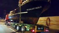 Samsun'da Gemiyi Karadan Yürüttüler
