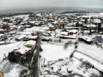 Silivri'yi Kaplayan Beyaz Örtü, Drone İle Görüntülendi