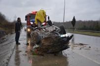 Tamir Edilen Aracın Motor Testi Sırasında Takla Attılar Açıklaması 3 Yaralı