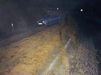 Yoldaki Portakal Posasını Kar Sanan Sürücüler Şaşkınlıklarını Gizleyemedi