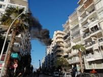 Antalya'da İş Merkezinde Korkutan Yangın (1)