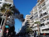 Antalya'da İş Merkezinde Korkutan Yangın