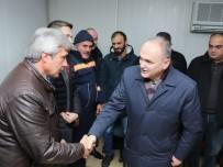 Başkan Özlü'den Çalışanlara Sürpriz Ziyaret