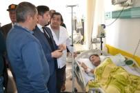 GAZİLER DERNEĞİ - Bozyazı Kaymakamı Yalçın'dan Kore Gazisine Hastanede Ziyaret
