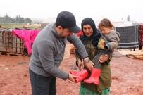 YALIN - Suriyeli Çocuklara Çizme Yardımı