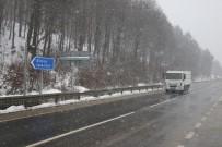 ABANT - Bolu Dağı'nda Şiddetli Kar Yağışı Başladı