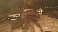 Erdek'te Araç Yangını Korkuttu