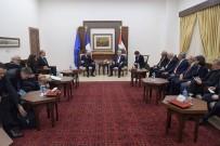 FILISTIN - Fransa Cumhurbaşkanı Macron, Filistin Devlet Başkanı Abbas İle Görüştü