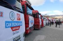 BURHAN ÇAKıR - Erzincan'dan İdlib'e 20 Tır Yardım Malzemesi Gönderildi