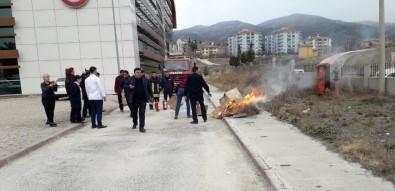 Osmancık Devlet Hastanesi'nde Yangın Tatbikatı