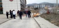 TATBIKAT - Osmancık Devlet Hastanesi'nde Yangın Tatbikatı
