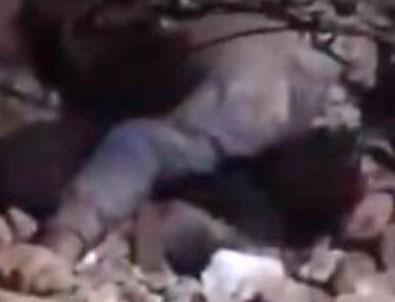 Elazığ'daki depremden yürek burkan görüntü!