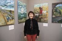 RESIM SERGISI - Emekli Öğretmen Altınışık, 3'Üncü Kişisel Resim Sergisini MTSO'da Açtı