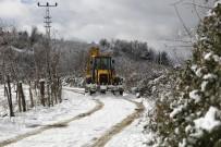 Fatsa'da Kardan Kapanan Yollara Anında Müdahale