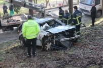 Kontrolden Çıkan Otomobil Mesire Alanına Uçtu Açıklaması 1 Yaralı