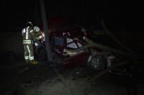 BÜYÜKDERE - Sürücüsünün Hakimiyetini Kaybettiği Otomobil Önce Ağaca Çarptı