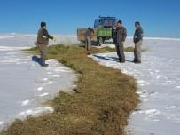 Konya'da Yaban Hayvanları İçin Kar Üzerine Yem Bırakıldı