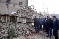Vali Baruş Ve Başkan Gürkan Depremde Hasar Gören Yerleri Gezdiler