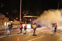 YOLCU OTOBÜSÜ - TEM Otoyolu'nda Cenaze Taşıyan Otobüs Alev Alev Yandı