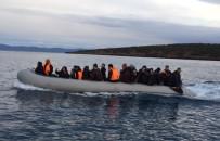 KUZEY EGE - Ayvalık'ta 45 Afganistan Uyruklu Göçmen Yakalandı