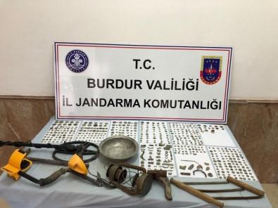 Burdur'da Roma Bizans Dönemine Ait Tarihi Eserler Ele Geçirildi