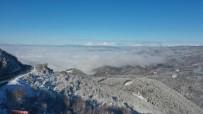 Karla Kaplı Bolu Dağı'nın Havadan Görüntüsü Büyüledi