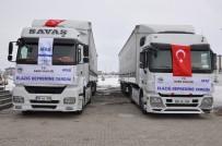 TÜRKER ÖKSÜZ - Kars'tan Elazığ'a Yardım Tırları Yola Çıktı