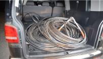 TELEFON KABLOSU - 2 Bin 400 Metre Kablo Çalan Şüpheliler Tutuklandı