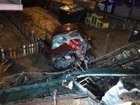 PARMAK İZİ - Başkent'te Alkollü Sürücü Virajı Alamayıp Bahçeye Uçtu Açıklaması 2 Yaralı