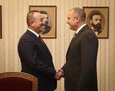 Çavuşoğlu, Bulgaristan Cumhurbaşkanı Radev İle Görüştü