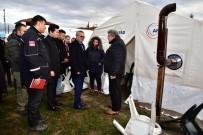 AHMET DENIZ - Deprem Çalışmaları Vali Deniz Başkanlığında Değerlendirildi