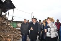 PERİHAN SAVAŞ - Perihan Savaş Deprem Bölgesinde
