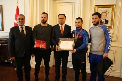 Vali Çakır, Avrupa Şampiyonunu Tebrik Etti
